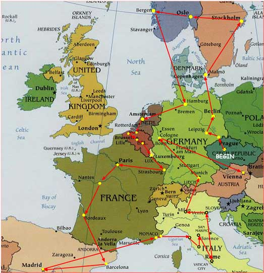 Europe Clickable Map