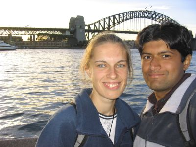 Daria and Puneet in Sydney